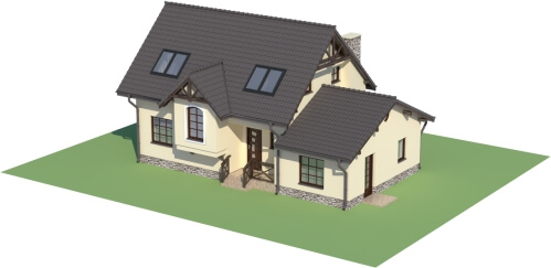 Projekt domu DM-6251 B - model