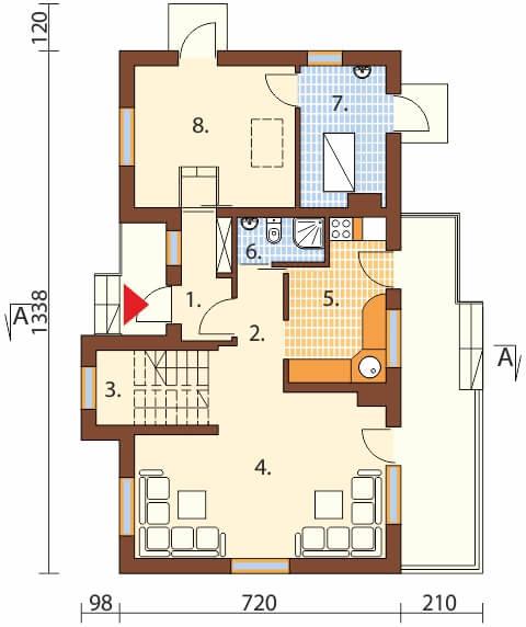 Projekt domu L-6251 B - rzut