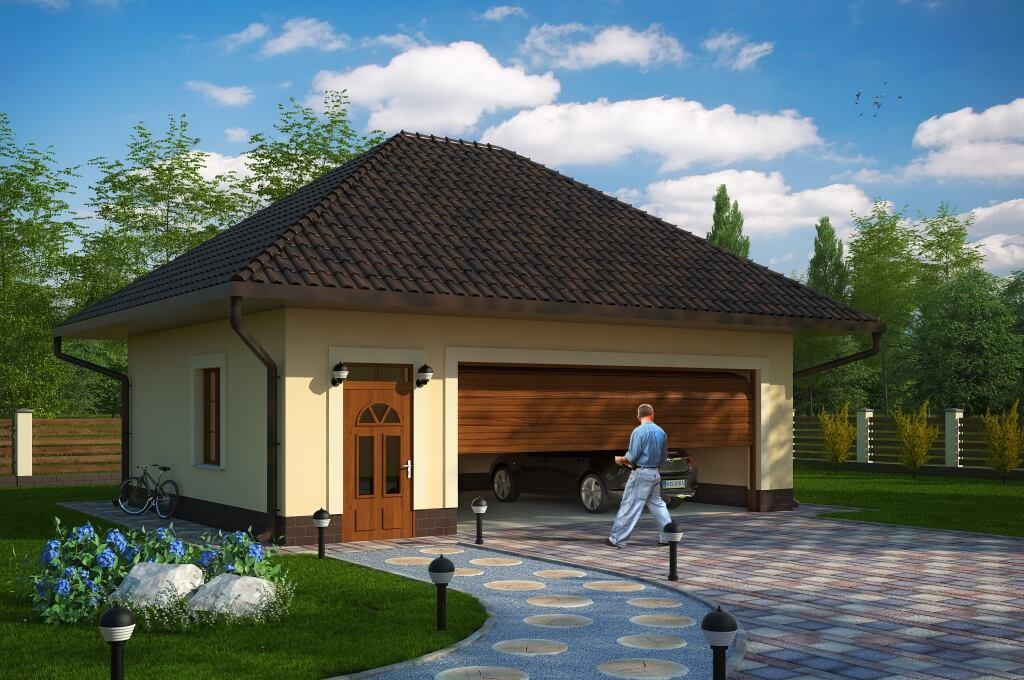 Projekt Budynku Gospodarczo Garażowegogaraż Budynek Gospodarczy Zg