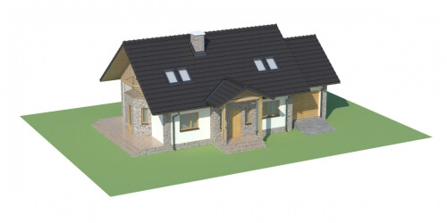 Projekt domu DM-6168 - model