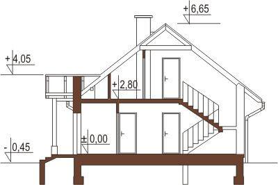 Projekt domu DM-6168 - przekrój