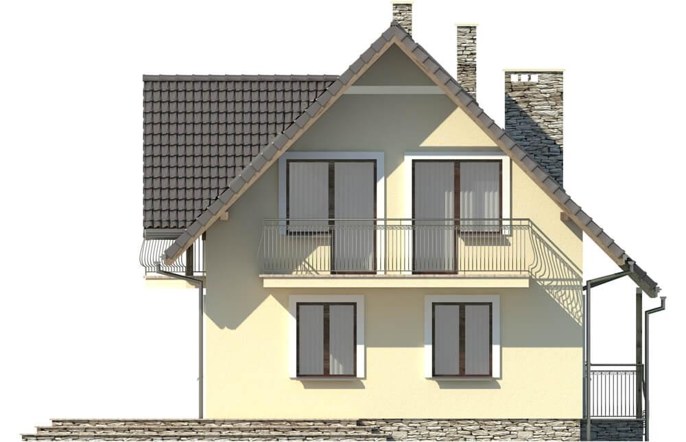 Projekt domu DM-6190 D - elewacja