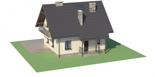 Projekt domu DM-6190 D - model
