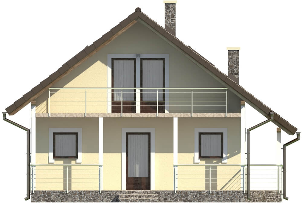 Projekt domu DM-6223 B - elewacja