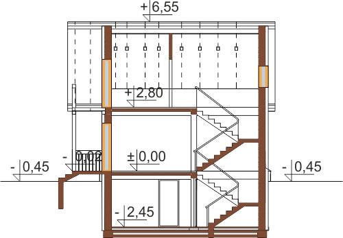 Projekt domu DM-6223 B - przekrój