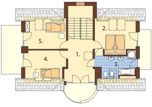 Projekt domu DM-6170 - rzut