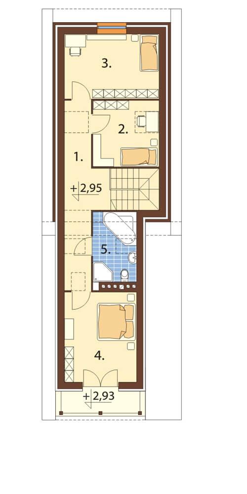 Projekt domu DM-6172 - rzut