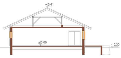 Projekt domu DM-6176 - przekrój
