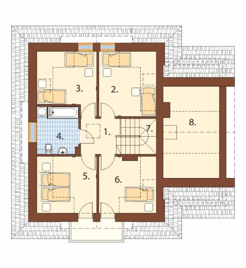 Projekt domu L-6499 - rzut