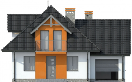 Projekt domu L-6499 - elewacja