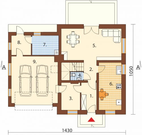 Projekt domu DM-6499 G - rzut