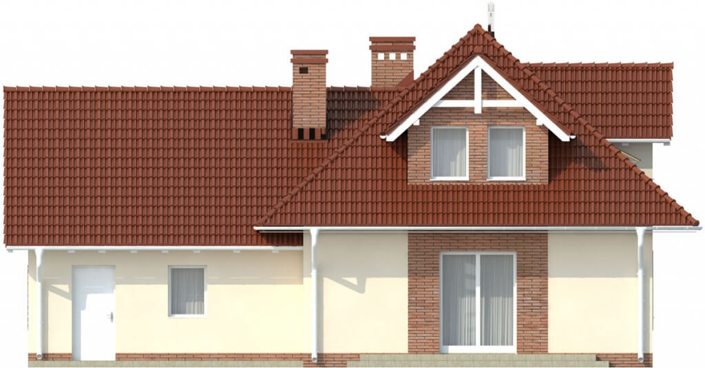 Projekt domu L-6499 G - elewacja