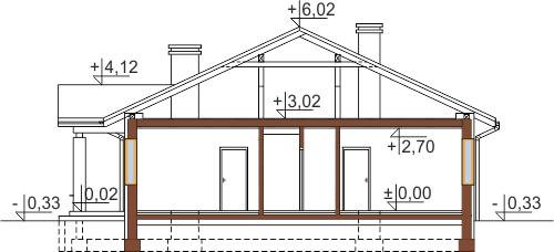 Projekt domu DM-6503 C - przekrój