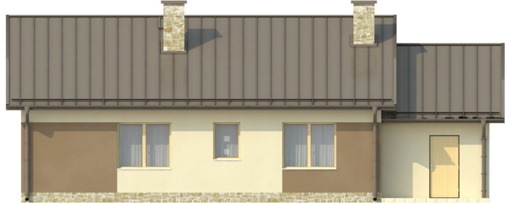 Projekt domu L-6503 C - elewacja