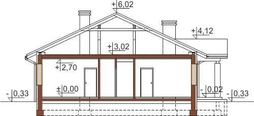 Projekt domu L-6503 C - przekrój