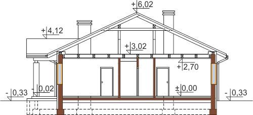 Projekt domu DM-6503 G - przekrój