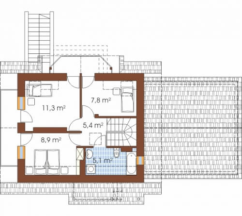 Projekt domu DM-6190 G - rzut