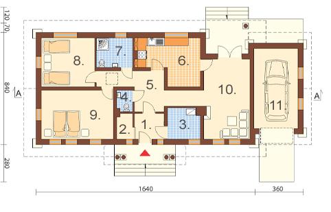 Projekt domu DM-6178 - rzut