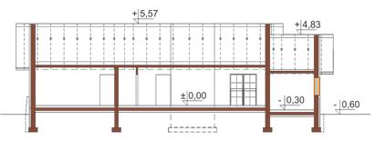 Projekt domu DM-6178 - przekrój