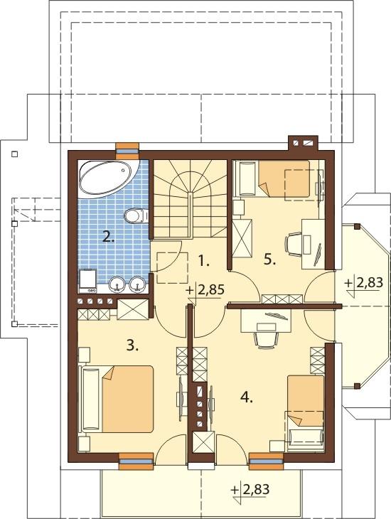 Projekt domu L-6190 C - rzut
