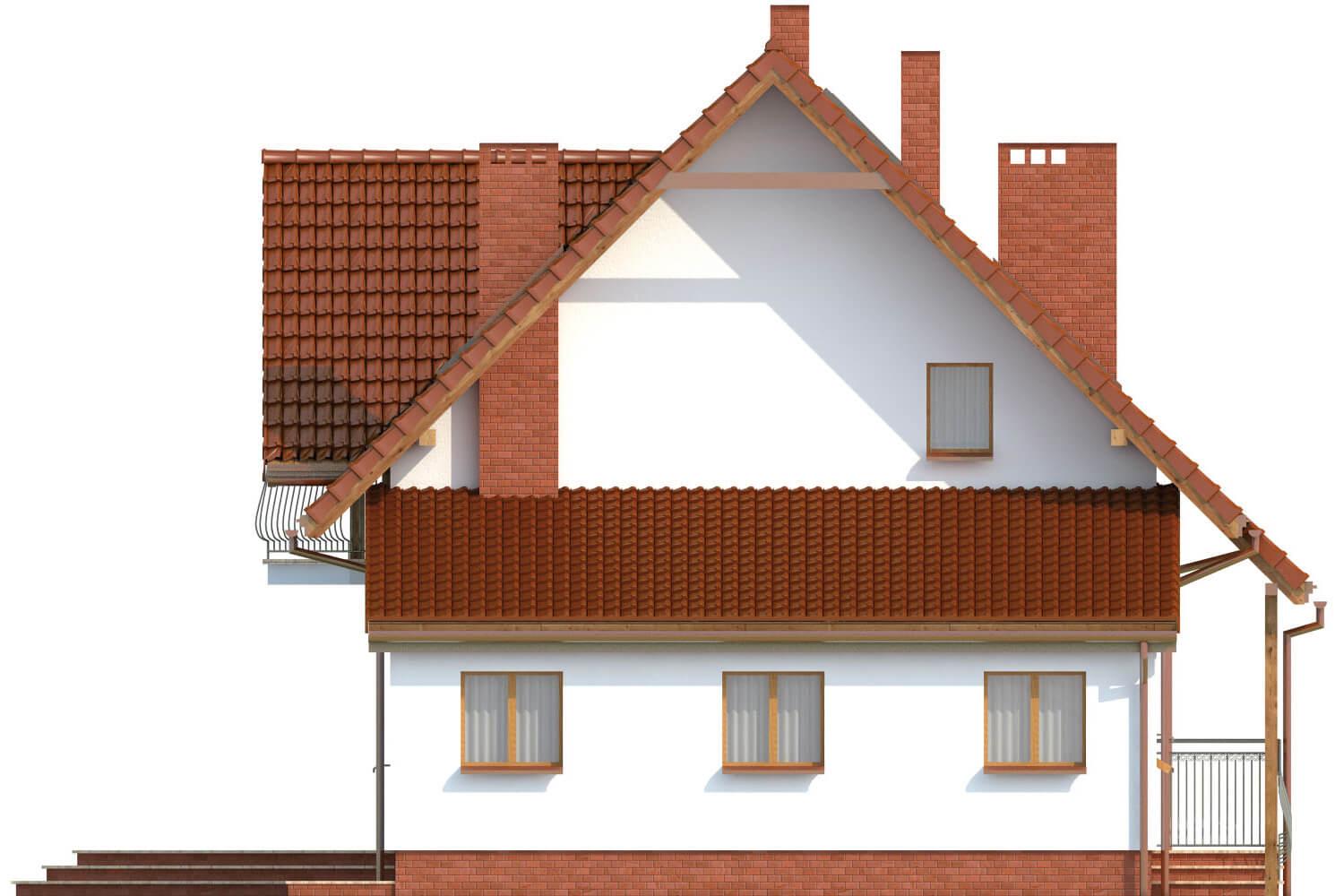 Projekt domu L-6190 C - elewacja