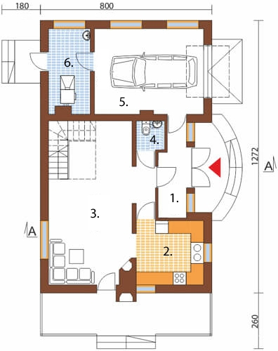 Projekt domu DM-6256 C - rzut