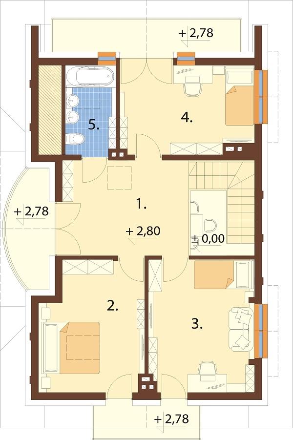 Projekt domu L-6256 C - rzut