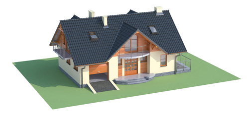 Projekt domu L-6256 C - model