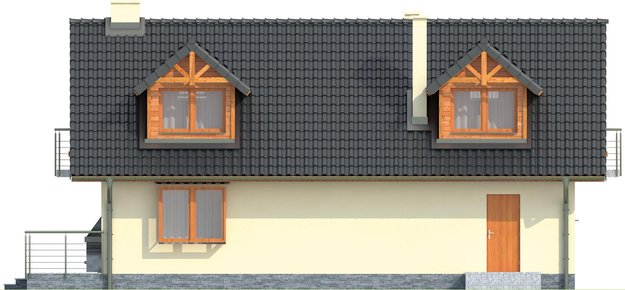 Projekt domu L-6256 C - elewacja