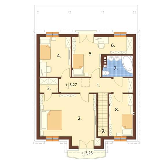 Projekt domu DM-6501 - rzut