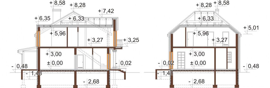 Projekt domu DM-6501 - przekrój