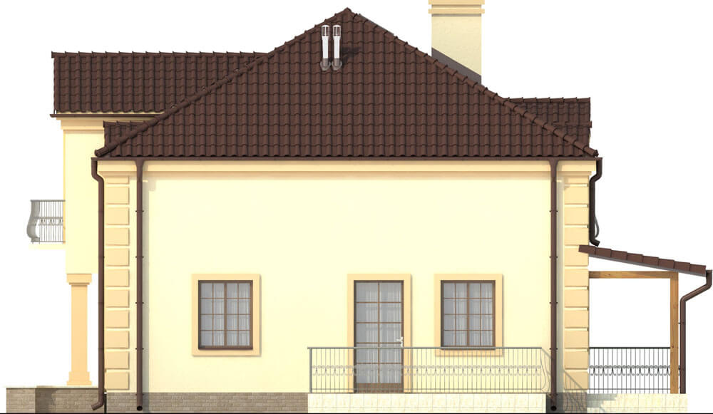 Projekt domu L-6501 - elewacja