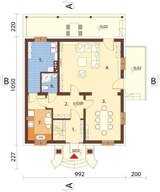 Projekt domu L-6501 - rzut