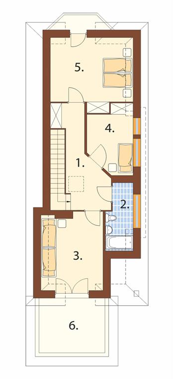 Projekt domu DM-5588 C - rzut