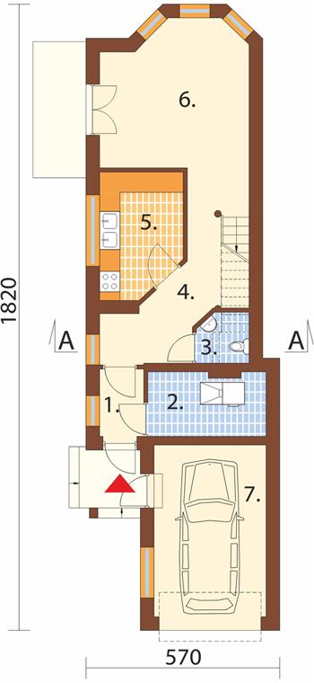 Projekt domu L-5588 C - rzut