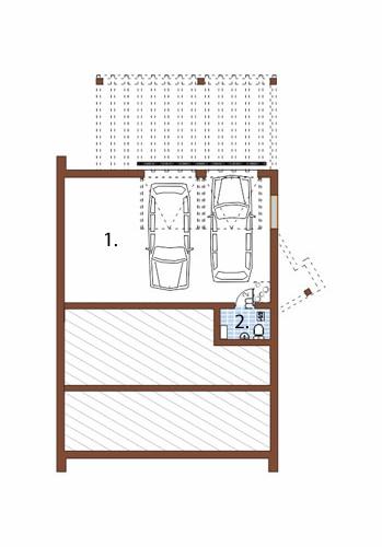 Projekt domu DM-6497 - rzut