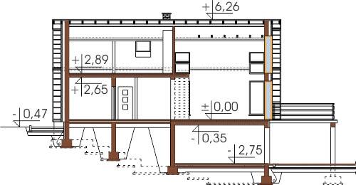 Projekt domu DM-6497 - przekrój