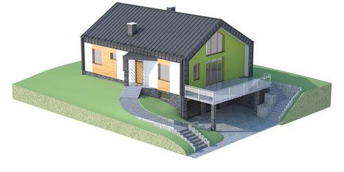 Projekt domu DM-6497 - model