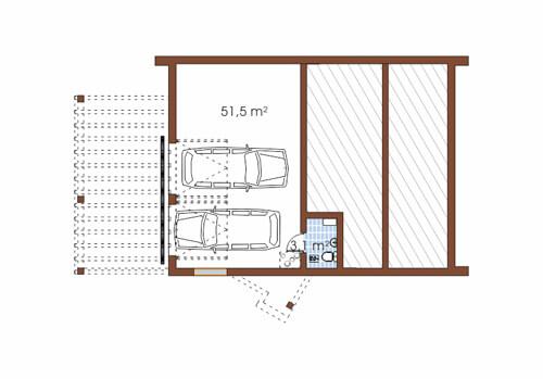 Projekt domu L-6497 - rzut