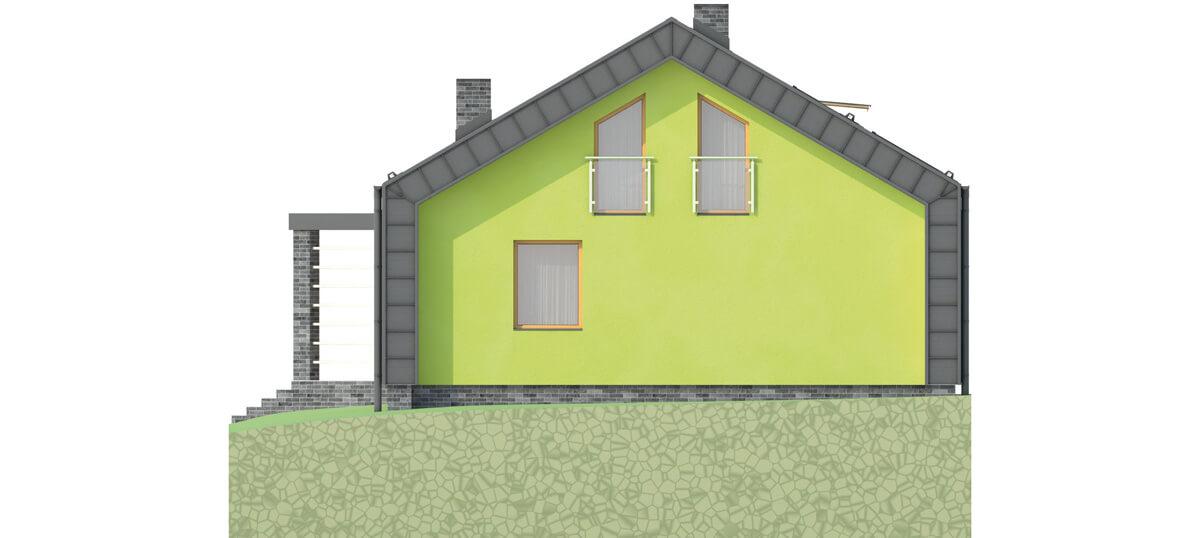 Projekt domu L-6497 - elewacja