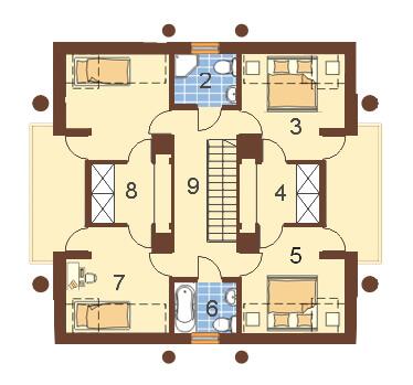 Projekt domu DM-6179 - rzut