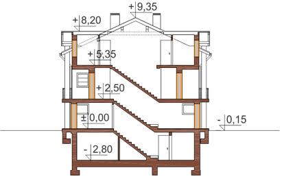 Projekt domu DM-6179 - przekrój