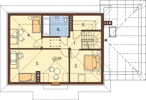 Projekt domu DM-6426 B - rzut