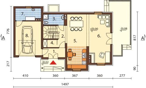 Projekt domu L-6426 B - rzut