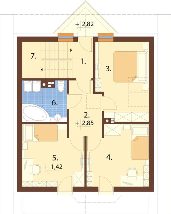 Projekt domu DM-6180 - rzut