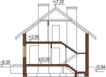 Projekt domu DM-6180 - przekrój