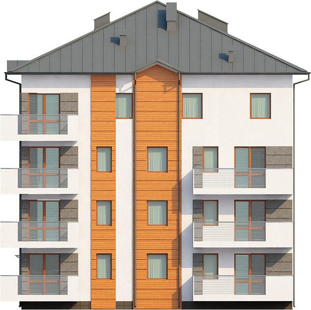 Projekt domu DM-6496 - elewacja