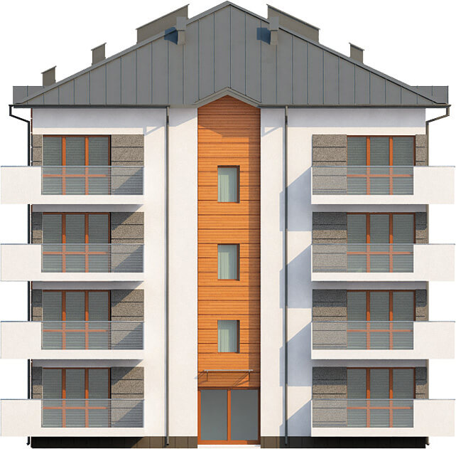 Projekt domu L-6496 - elewacja