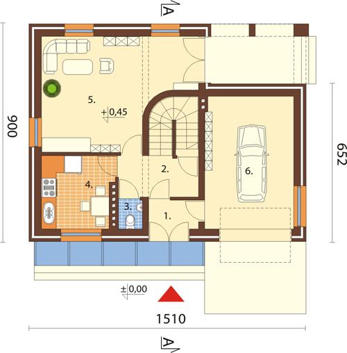 Projekt domu L-6068 - rzut