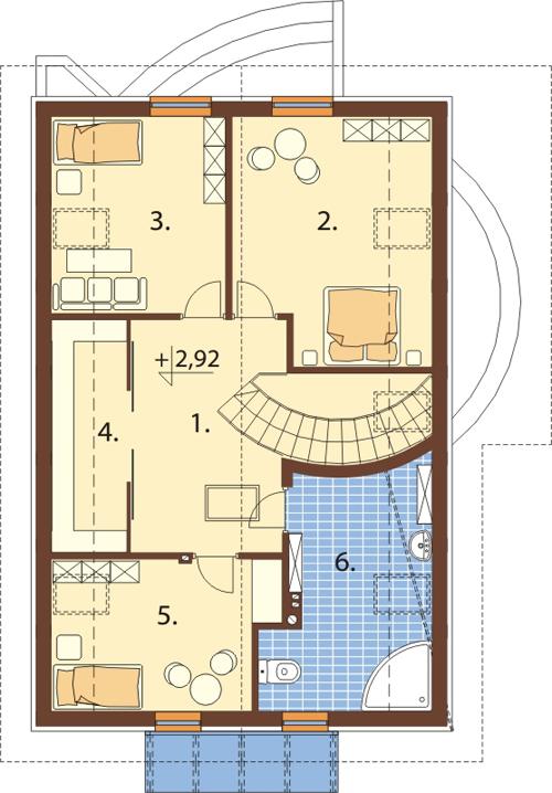 Projekt domu DM-6140 - rzut